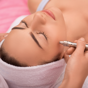 Woman Receiving Electrolysis Services